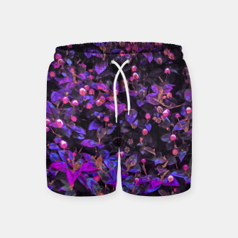 Miniatur Stylized Floral Texture Pattern Swim Shorts, Live Heroes