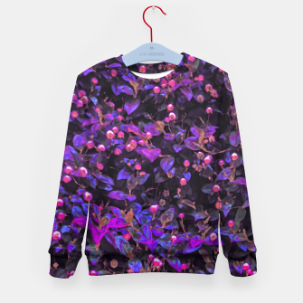 Miniatur Stylized Floral Texture Pattern Kid's sweater, Live Heroes