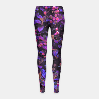 Miniatur Stylized Floral Texture Pattern Girl's leggings, Live Heroes