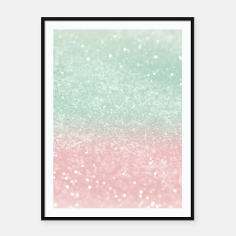 Thumbnail image of Pastel Summer Glitter #1 (Faux Glitter - Photography) #shiny #decor #art  Plakat mit rahmen, Live Heroes