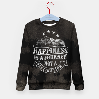 Miniatur Happiness is a Journey –  Kid's sweater, Live Heroes
