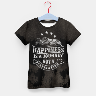 Miniatur Happiness is a Journey –  Kid's t-shirt, Live Heroes