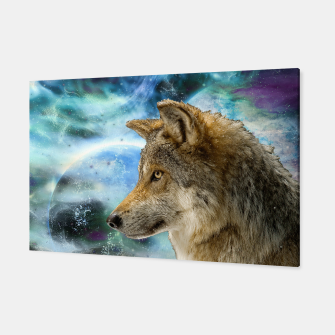 Thumbnail image of Wolf and Planets Canvas, Live Heroes
