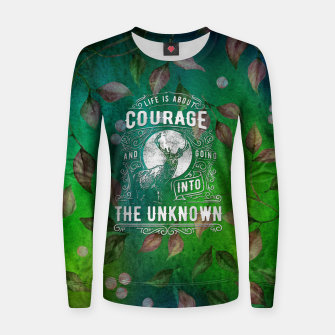 Miniaturka Life is about Courage –  Women sweater, Live Heroes