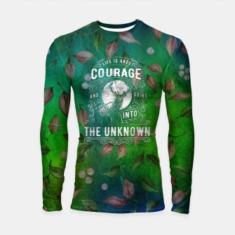 Miniaturka Life is about Courage –  Longsleeve rashguard , Live Heroes