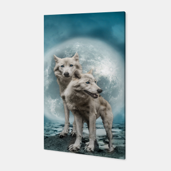 Thumbnail image of Wolves and Moon Canvas, Live Heroes