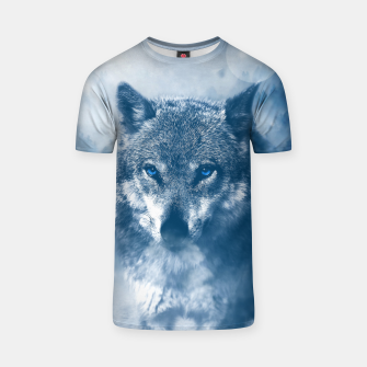 Miniatur Wolf and Snow T-shirt, Live Heroes
