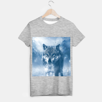 Miniatur Wolf and Snow T-shirt regular, Live Heroes