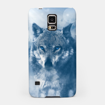 Miniatur Wolf and Snow Samsung Case, Live Heroes