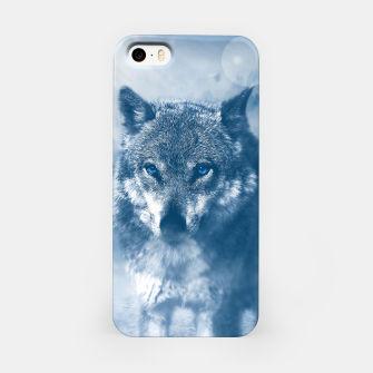 Miniatur Wolf and Snow iPhone Case, Live Heroes