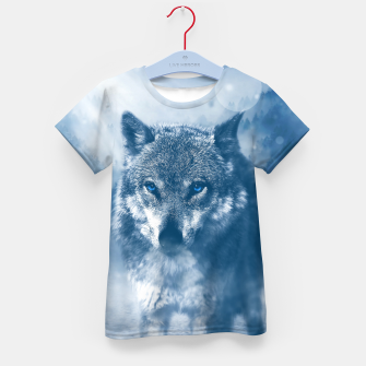 Miniatur Wolf and Snow Kid's t-shirt, Live Heroes