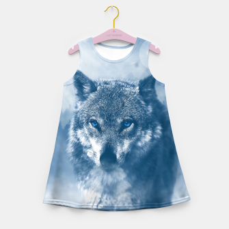 Miniatur Wolf and Snow Girl's summer dress, Live Heroes