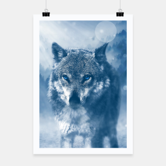 Miniaturka Wolf and Snow Poster, Live Heroes