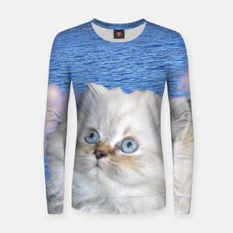 Thumbnail image of Cat and Water Women sweater, Live Heroes