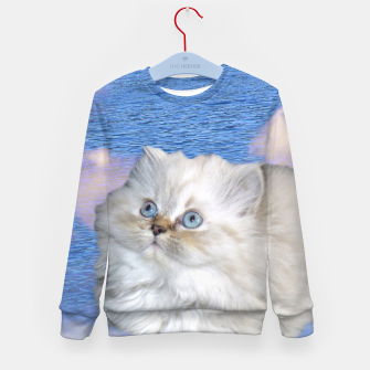 Thumbnail image of Cat and Water Kid's sweater, Live Heroes
