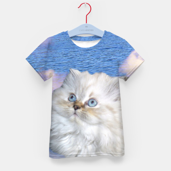 Thumbnail image of Cat and Water Kid's t-shirt, Live Heroes