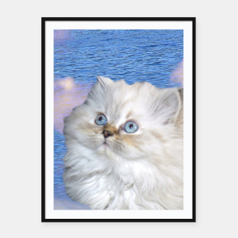 Thumbnail image of Cat and Water Framed poster, Live Heroes