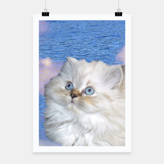 Thumbnail image of Cat and Water Poster, Live Heroes
