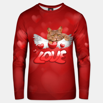 Thumbnail image of Cat Love and Hearts Unisex sweater, Live Heroes