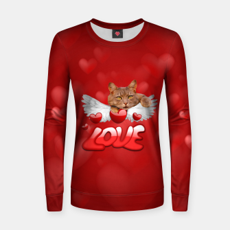 Thumbnail image of Cat Love and Hearts Women sweater, Live Heroes