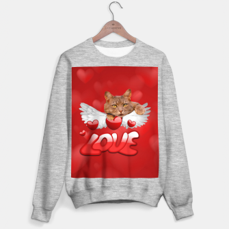 Thumbnail image of Cat Love and Hearts Sweater regular, Live Heroes