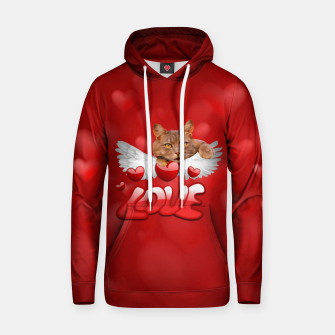 Thumbnail image of Cat Love and Hearts Hoodie, Live Heroes