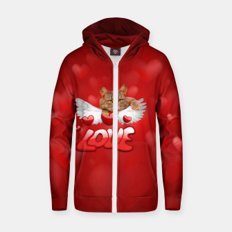 Thumbnail image of Cat Love and Hearts Zip up hoodie, Live Heroes
