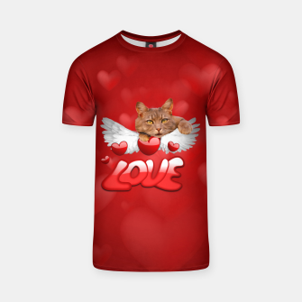 Thumbnail image of Cat Love and Hearts T-shirt, Live Heroes