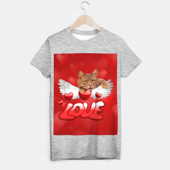 Thumbnail image of Cat Love and Hearts T-shirt regular, Live Heroes