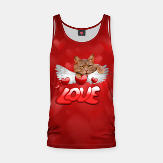 Thumbnail image of Cat Love and Hearts Tank Top, Live Heroes