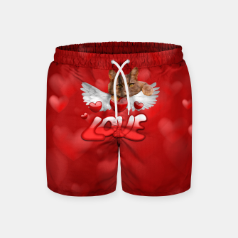 Thumbnail image of Cat Love and Hearts Swim Shorts, Live Heroes