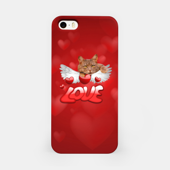 Thumbnail image of Cat Love and Hearts iPhone Case, Live Heroes