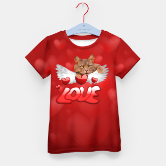 Thumbnail image of Cat Love and Hearts Kid's t-shirt, Live Heroes