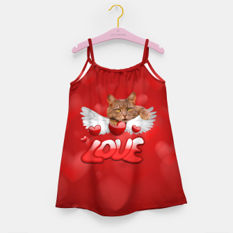 Thumbnail image of Cat Love and Hearts Girl's dress, Live Heroes