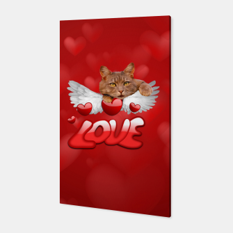 Thumbnail image of Cat Love and Hearts Canvas, Live Heroes