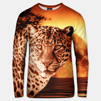 Thumbnail image of Leopard and Red Moon Unisex sweater, Live Heroes