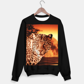 Thumbnail image of Leopard and Red Moon Sweater regular, Live Heroes