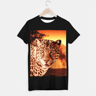 Thumbnail image of Leopard and Red Moon T-shirt regular, Live Heroes