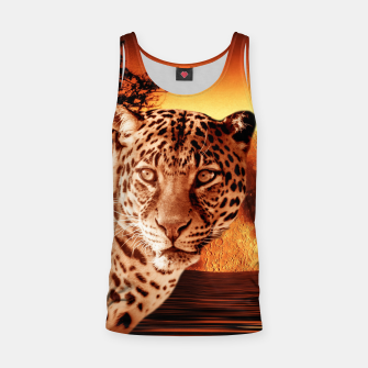 Thumbnail image of Leopard and Red Moon Tank Top, Live Heroes