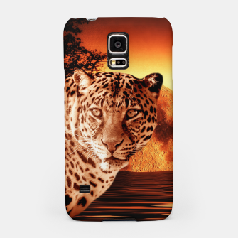 Thumbnail image of Leopard and Red Moon Samsung Case, Live Heroes