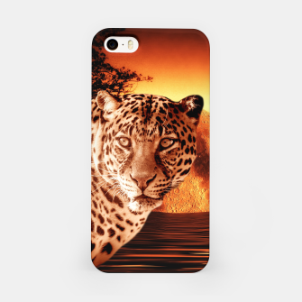 Thumbnail image of Leopard and Red Moon iPhone Case, Live Heroes
