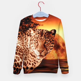 Thumbnail image of Leopard and Red Moon Kid's sweater, Live Heroes