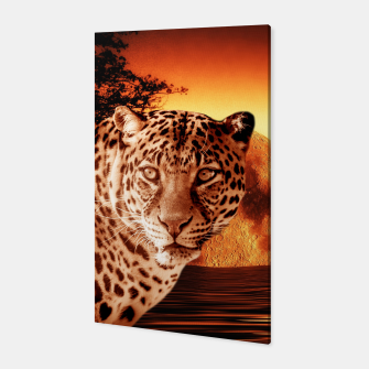 Thumbnail image of Leopard and Red Moon Canvas, Live Heroes