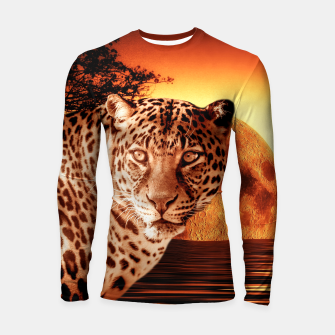 Thumbnail image of Leopard and Red Moon Longsleeve rashguard , Live Heroes