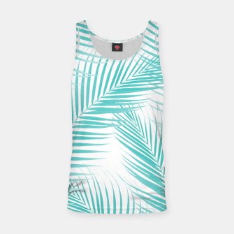 Miniatur Soft Turquoise Palm Leaves Dream - Cali Summer Vibes #2 #tropical #decor #art  Muskelshirt , Live Heroes