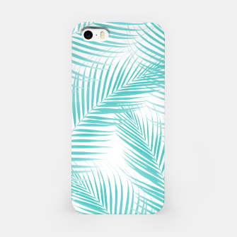 Miniatur Soft Turquoise Palm Leaves Dream - Cali Summer Vibes #2 #tropical #decor #art  iPhone-Hülle, Live Heroes