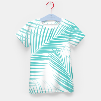 Thumbnail image of Soft Turquoise Palm Leaves Dream - Cali Summer Vibes #2 #tropical #decor #art  T-Shirt für kinder, Live Heroes