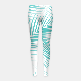 Thumbnail image of Soft Turquoise Palm Leaves Dream - Cali Summer Vibes #2 #tropical #decor #art  Kinder-Leggins, Live Heroes