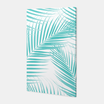 Thumbnail image of Soft Turquoise Palm Leaves Dream - Cali Summer Vibes #2 #tropical #decor #art  Canvas, Live Heroes