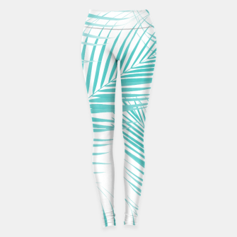 Thumbnail image of Soft Turquoise Palm Leaves Dream - Cali Summer Vibes #2 #tropical #decor #art  Leggings, Live Heroes